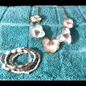 Sparkly Spring Necklace & Matching Bracelets